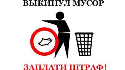 Штраф за выбрасывание мусора в неположенном месте